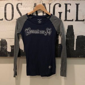 Gymnasts Can Fly Long Sleeve Shirt w/ Elbow Patch